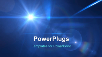 PowerPoint Template - Abstract lights background